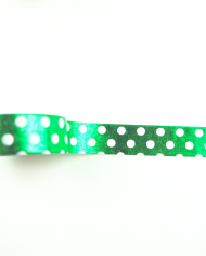 Wolkenweiss Washi Tape Green Dots