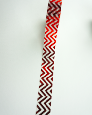 Wolkenweiss Washi Tape red waves